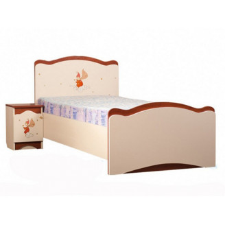 Кровать Феи в облаках 90*190 Крем + яблоня шоколад Вальтер