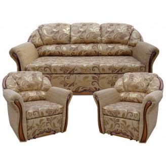 Комплект Бостон 311 с нераскладными креслами Вика