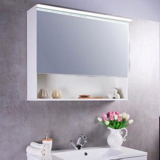 Зеркальный шкафчик MC-Okinava 110 белый Fancy Marble