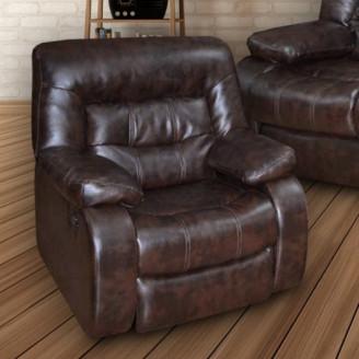 Кресло качалка Лотто кожа + к/з МКС