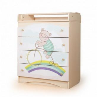 Комод пеленальный Мишка на радуге цвет № 2 Вальтер