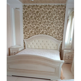 Кровать Николь с мягким изголовьем Мир Мебели