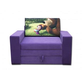 Детский раскладной диван Марс мультик 80 Выкатной Вика