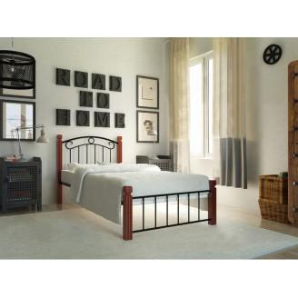 Металлическая кровать Монро на деревянных ножках Металл-дизайн