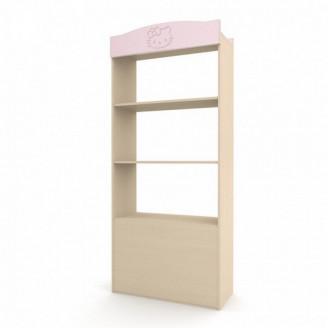 Стеллаж с ящиком Kiddy Розовый + венге светлый Вальтер