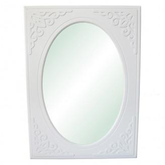 Зеркало Анжелика 80*100 кр белый супер мат Неман