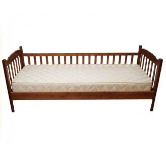 Детская кровать Юниор 1 забор 90*200 Темный орех Микс Мебель