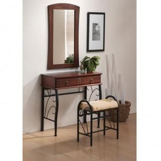 Туалетный столик с пуфом и зеркалом 1102 Signal