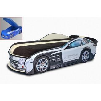 Кровать-машинка с матрасом Mercedes с механизмом MebelKon
