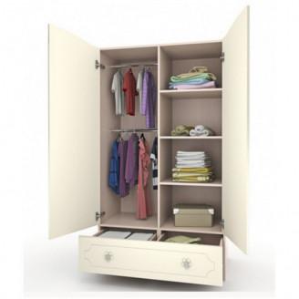 Шкаф платяной Зайки с ящиком-100 Вальтер