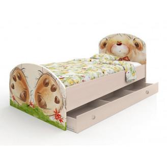 Кровать Мишка с букетом  +  ящик 90*190 Вальтер