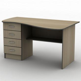 Стол письменный СПУ-9 140*75 Бюджет ТИСА-мебель