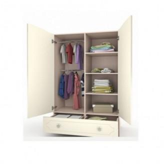 Шкаф платяной Природа с ящиком-100 Вальтер