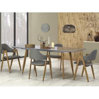 Стол раскладной Ruten 160-200*90 серый + дуб медовый Halmar