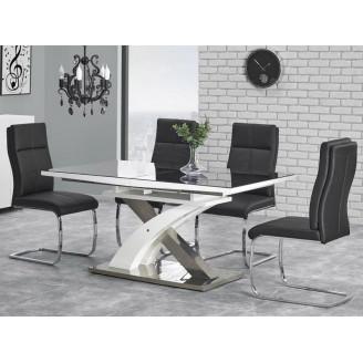 Стол раскладной Sandor-2 160-220*90 черно-белый Halmar
