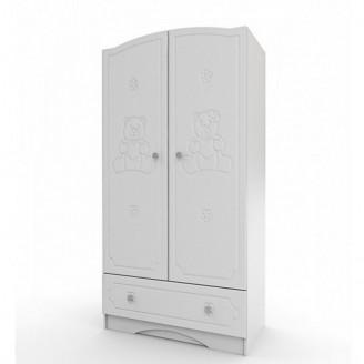 Шкаф платяной Мишка Белый Вальтер