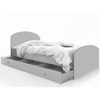 Кровать Мишка  +  ящик 90*190 Белый Вальтер