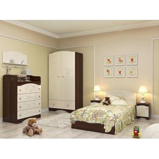 Детская комната Мишка Ваниль + орех темный Вальтер