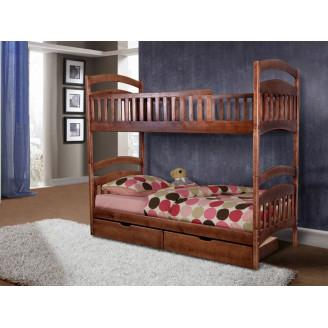 Кровать двухъярусная трансформер Кира  +  2 ящика Сосна 80*200 Микс Мебель